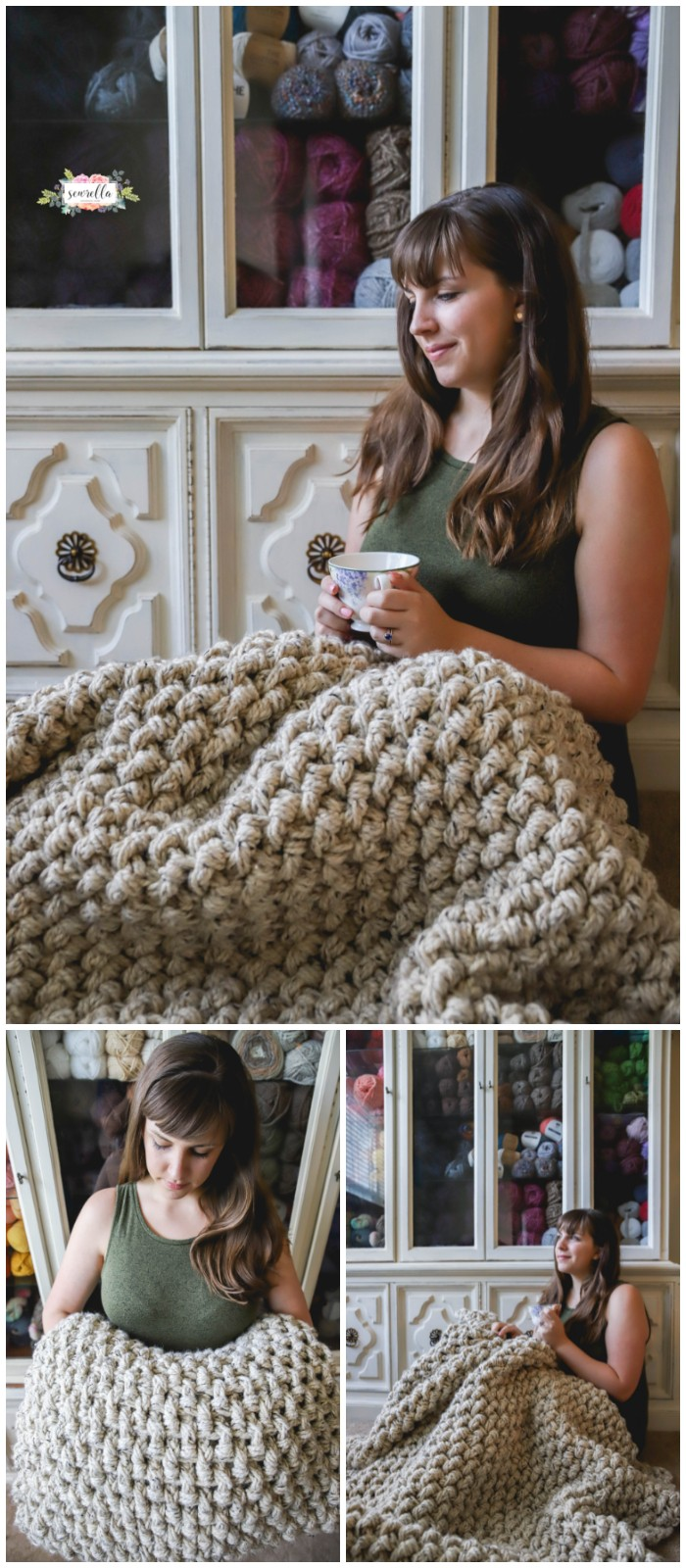 Crochet Mini Basketweave Blanket