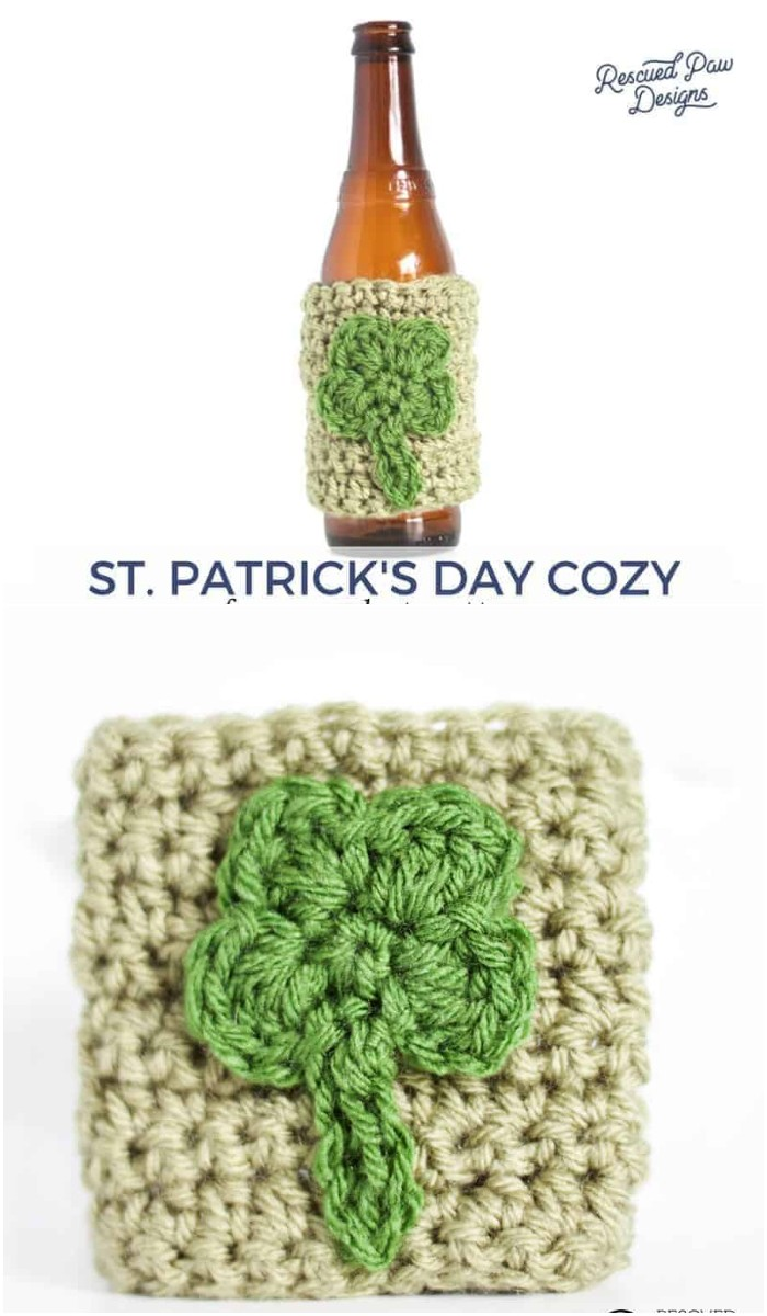 Crochet Shamrock Cozy Pattern