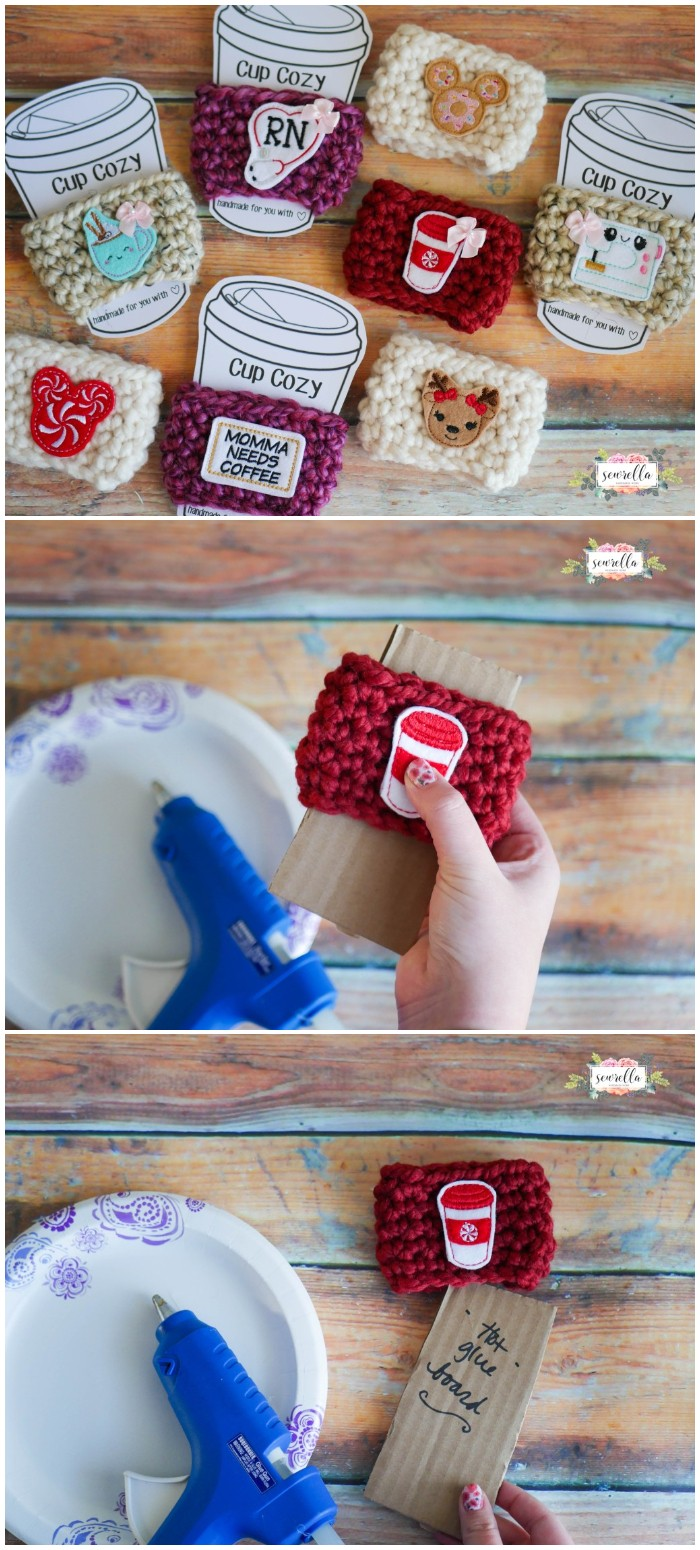 Custom Crochet Cup Cozies