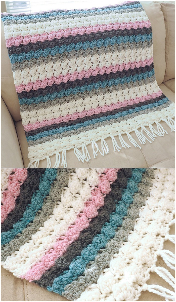 Baby Bumps Crochet Blanket