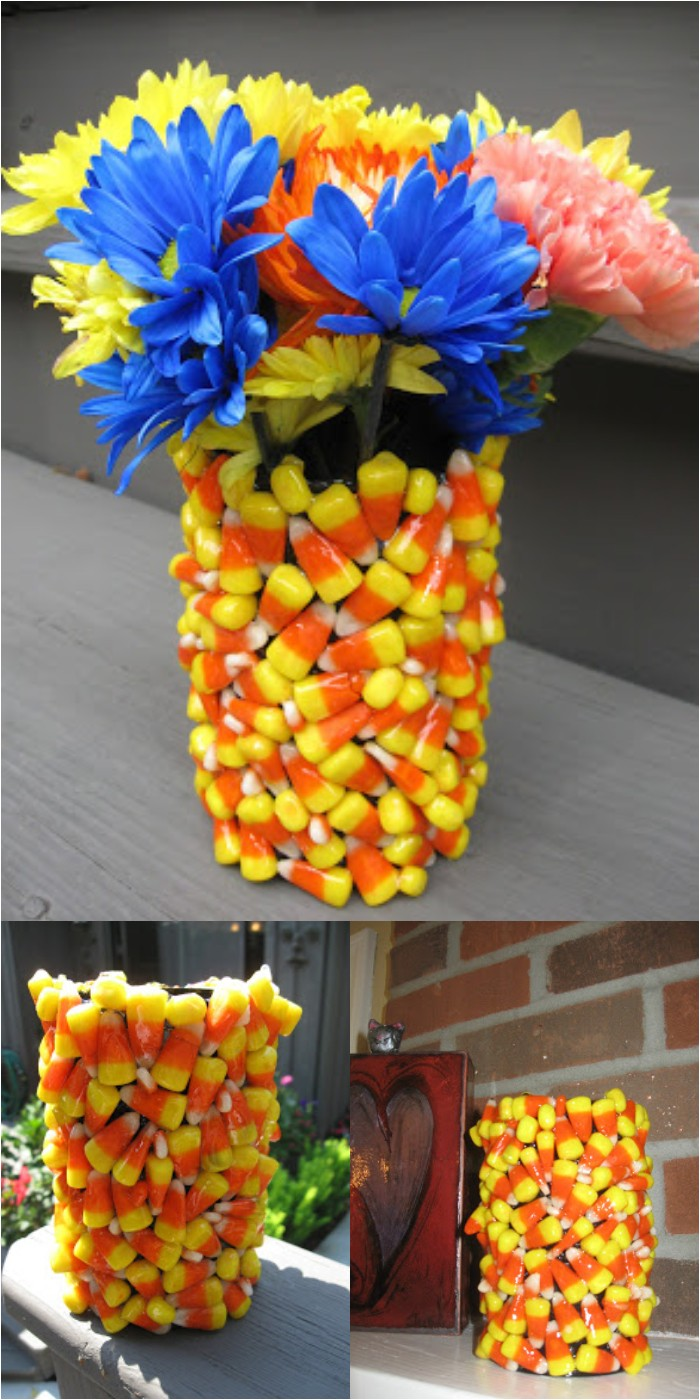 Candy Corn Vase Craft