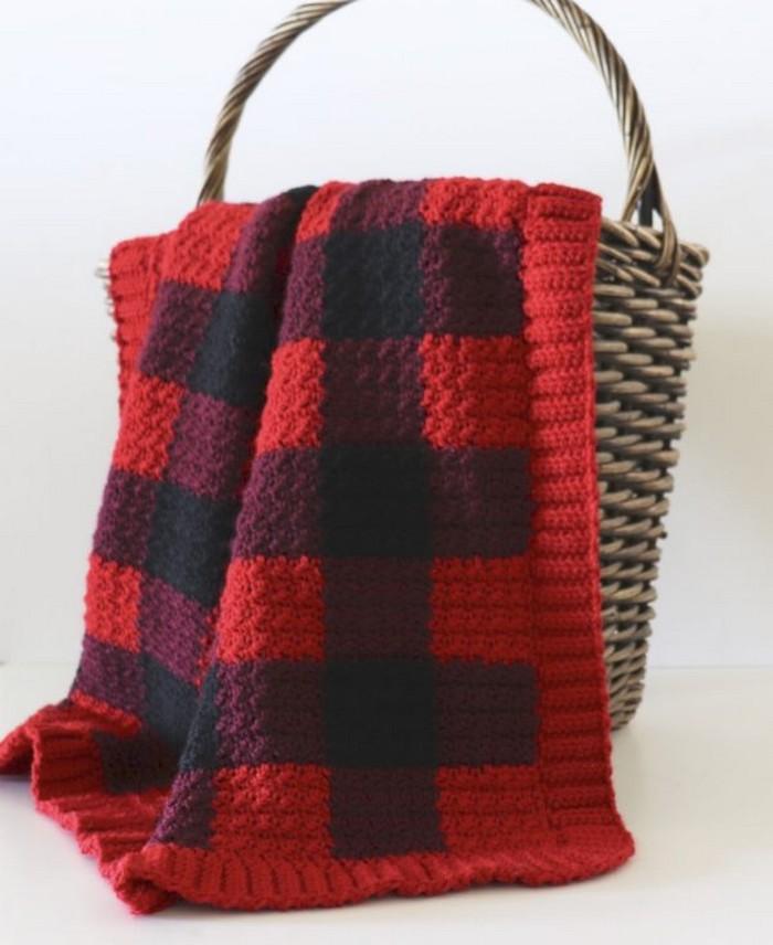 Check Crochet Blanket