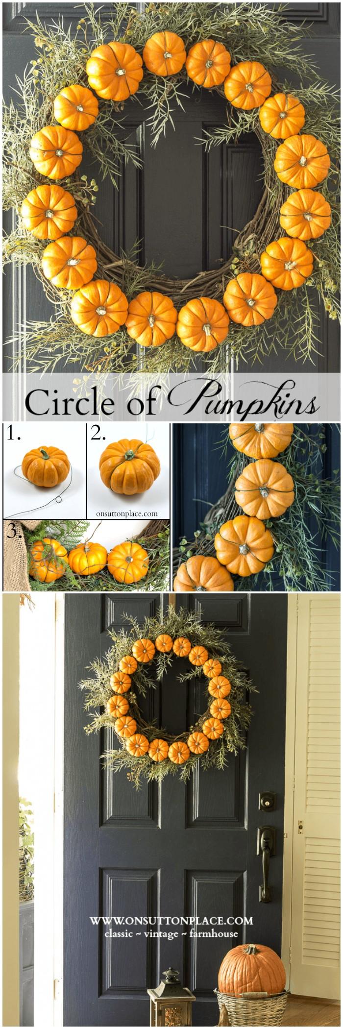 Circle Pumpkin Wreath