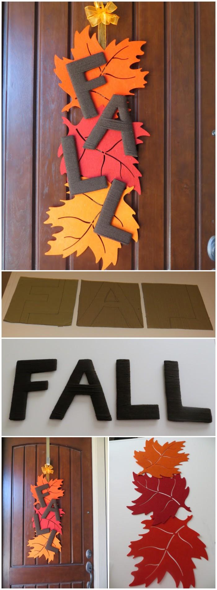 DIY Fall Leaf Door Decor
