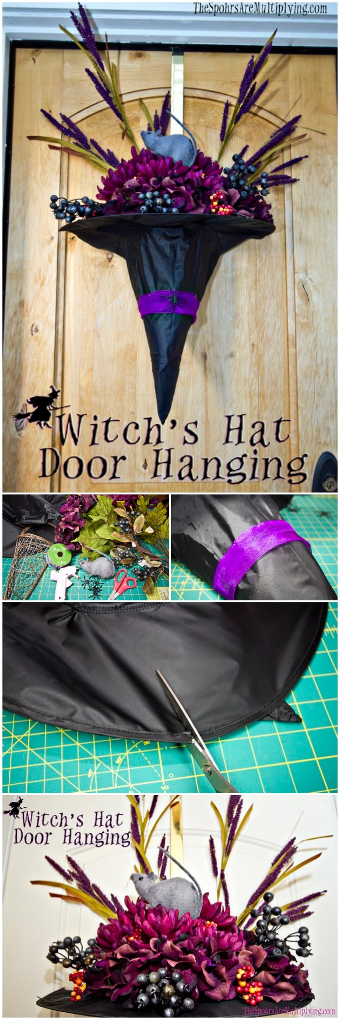 DIY Witch's Hat Door Hanging