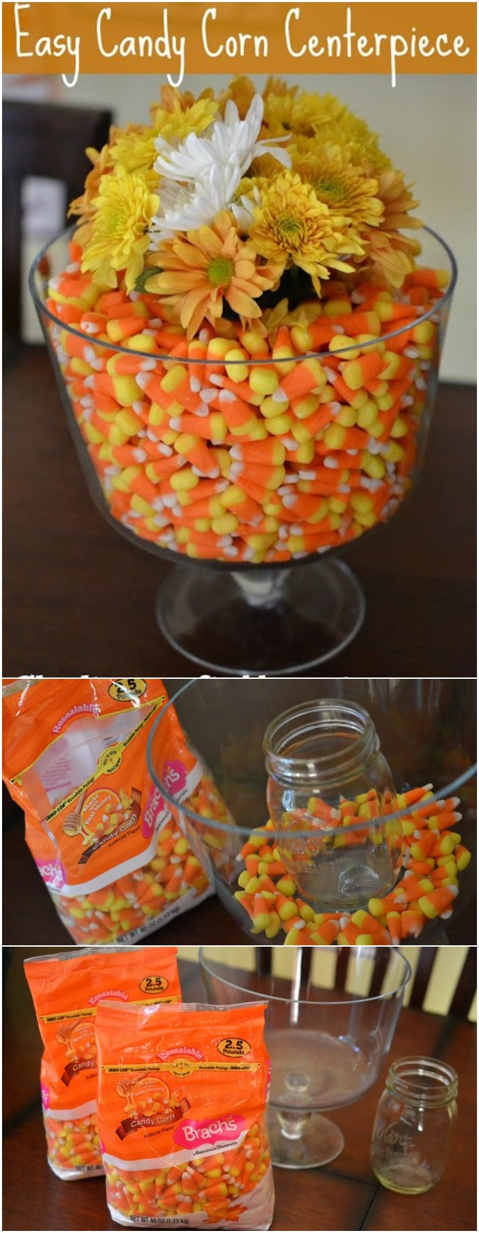 Easy Candy Corn Centerpiece