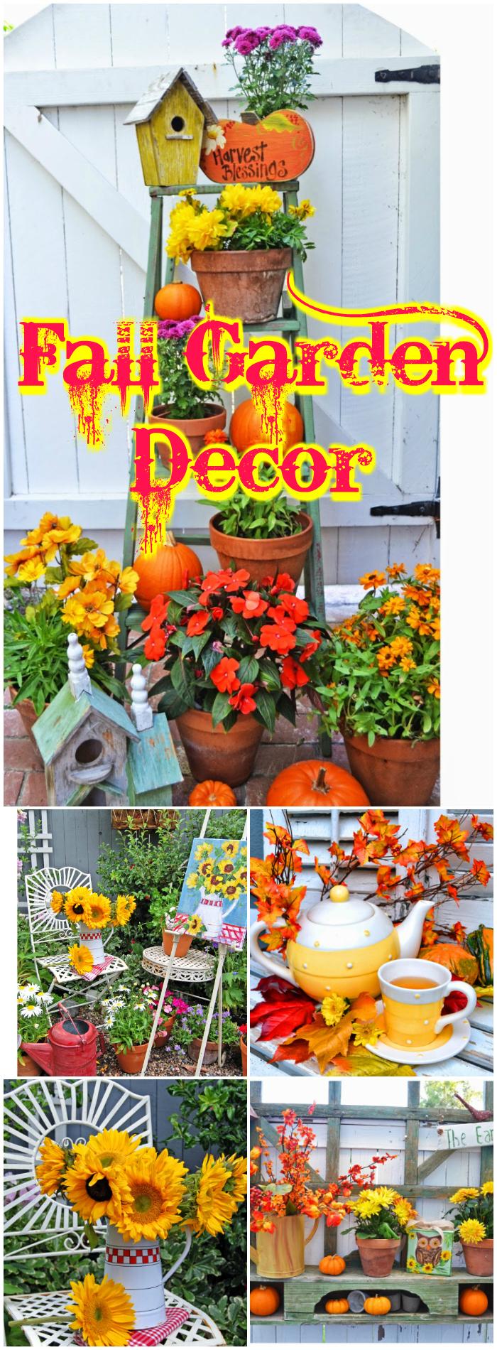 Fall Garden Decor